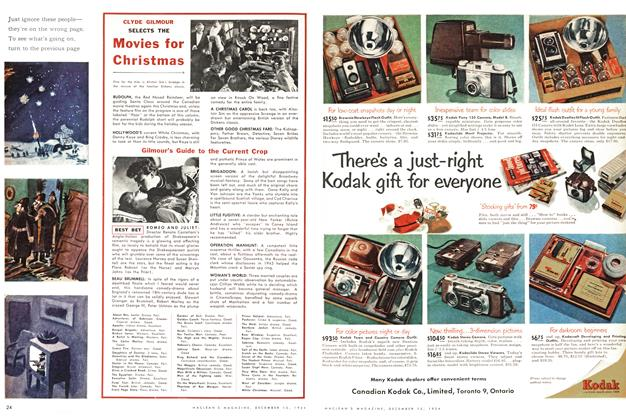 Article Preview: SELECTS THE Movies for Christmas, December 1954 | Maclean's
