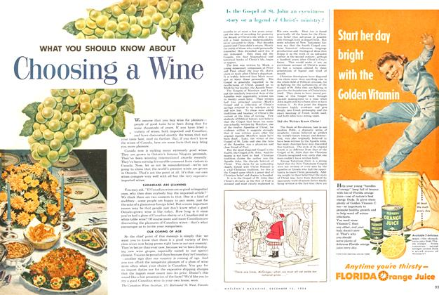 Article Preview: WHAT YOU SHOULD KNOW ABOUT Choosing a Wine, December 1954 | Maclean's