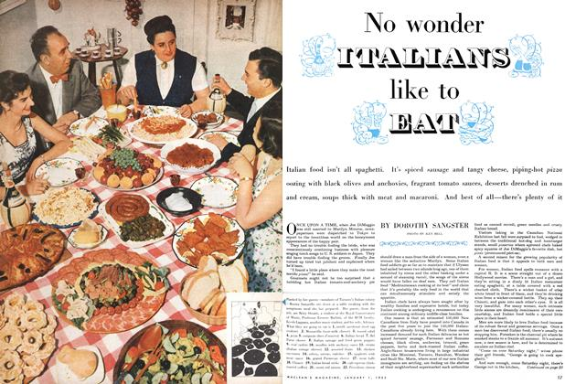 Article Preview: No wonder ITALIANS like to EAT, January 1955 | Maclean's