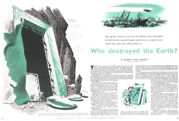 Article Preview: Who destroyed the Earth?, January 1955 | Maclean's