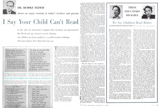 Article Preview: I Say Your Child Can't Read, January 1955 | Maclean's