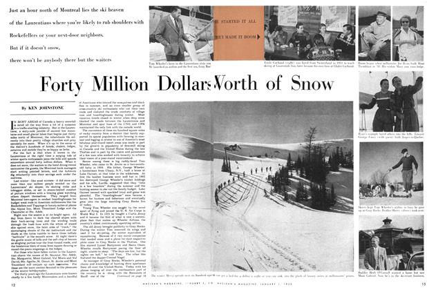 Article Preview: Forty Million Dollars Worth of Snow, January 1955 | Maclean's
