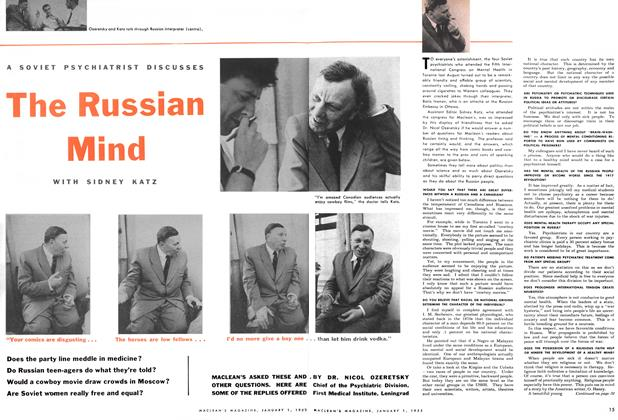 Article Preview: A SOVIET PSYCHIATRIST DISCUSSES The Russian Mind, January 1955 | Maclean's
