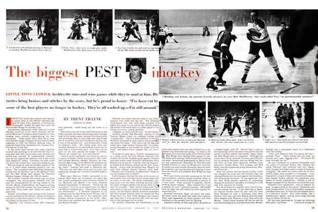Article Preview: The biggest PEST in hockey, January 1955 | Maclean's