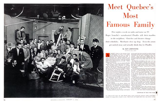 Article Preview: Meet Quebec's Most Famous Family, February 1955 | Maclean's