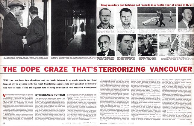 Article Preview: THE DOPE CRAZE THAT'S TERRORIZING VANCOUVER, February 1955 | Maclean's
