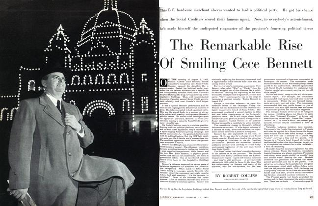 Article Preview: The Remarkable Rise Of Smiling Cece Bennett, February 1955 | Maclean's