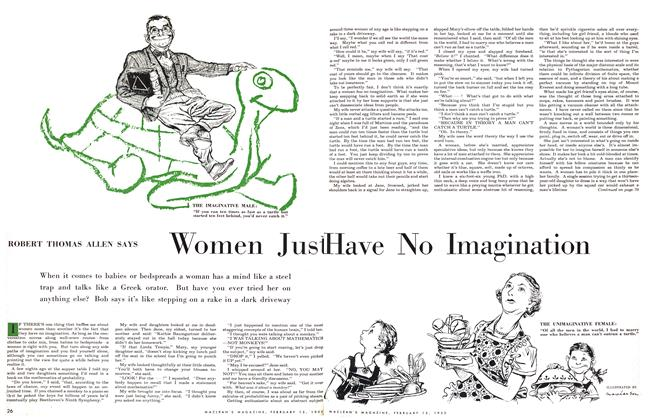 Article Preview: Women Just Have No Imagination, February 1955 | Maclean's
