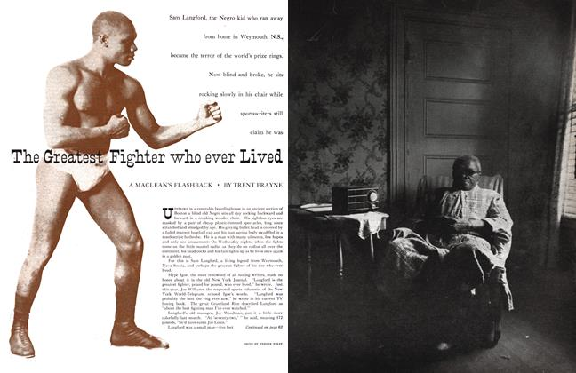 Article Preview: The Greatest Fighter who ever Lived, February 1955 | Maclean's
