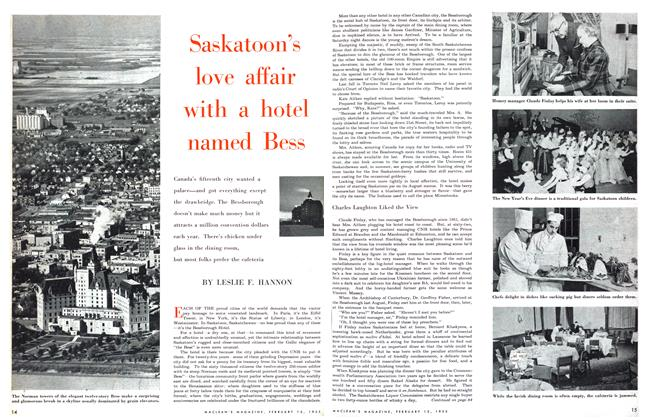 Article Preview: Saskatoon's love affair with a hotel named Bess, February 1955 | Maclean's