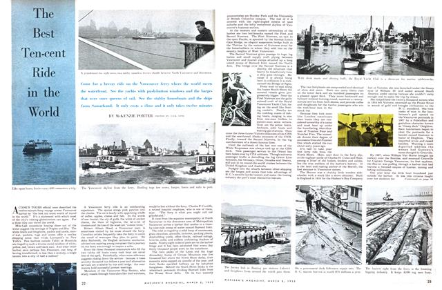 Article Preview: The Best Ten-cent Ride in the World, March 1955 | Maclean's