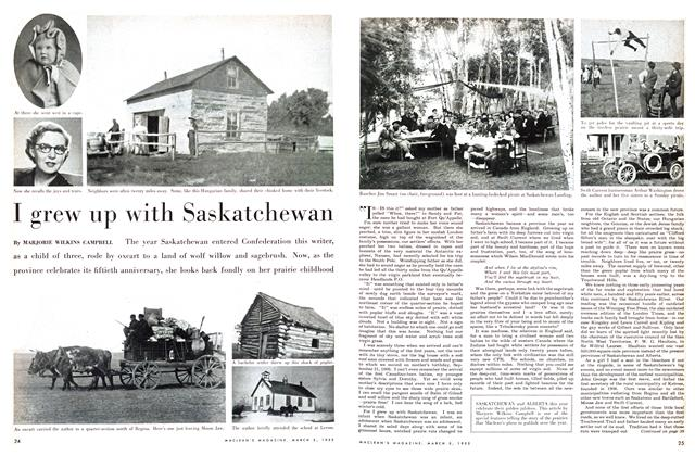 Article Preview: I grew up with Saskatchewan, March 1955 | Maclean's