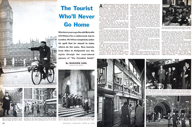 Article Preview: The Tourist Who'll Never Go Home, March 1955 | Maclean's