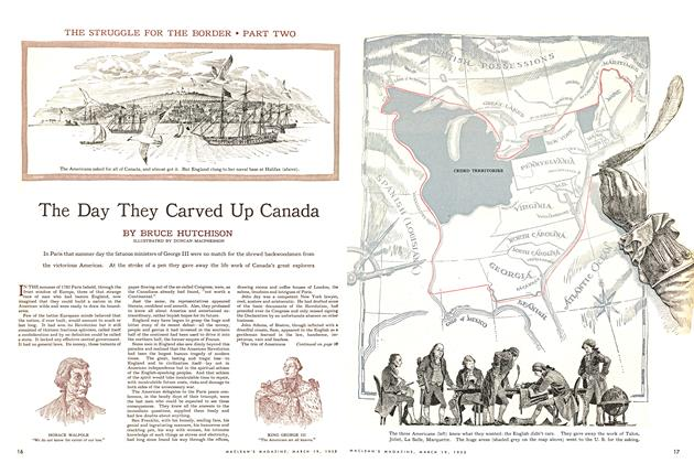 Article Preview: The Day They Carved Up Canada, March 1955 | Maclean's