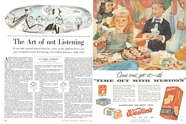 Article Preview: The Art of not Listening, March 1955 | Maclean's
