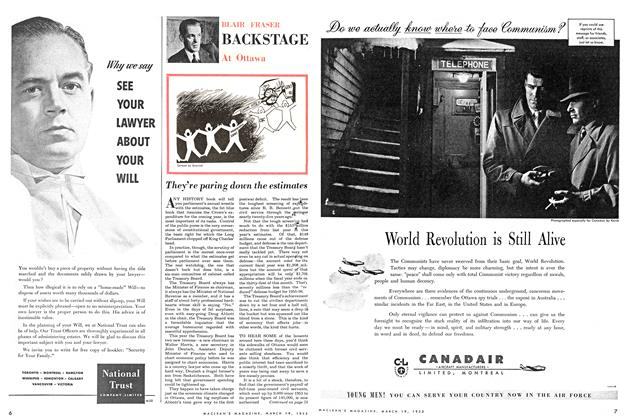 Article Preview: BACKSTAGE At Ottawa, March 1955 | Maclean's