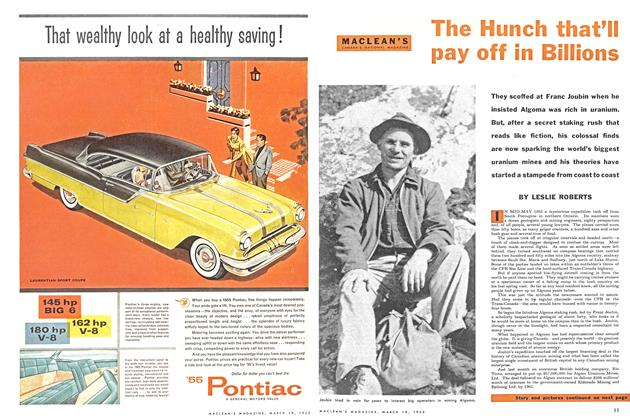 Article Preview: The Hunch that'll pay off in Billions, March 1955 | Maclean's