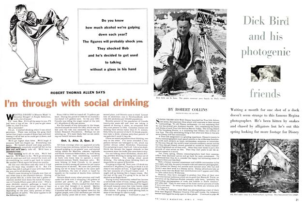 Article Preview: Dick Bird and his photogenic friends, April 1955 | Maclean's