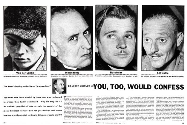 Article Preview: YOU, TOO, WOULD CONFESS, April 1955 | Maclean's