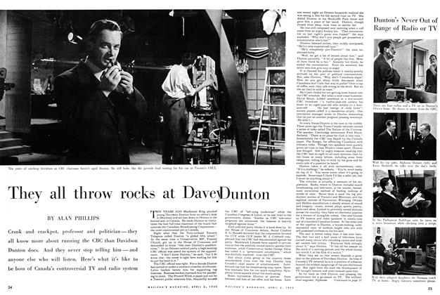 Article Preview: They all throw rocks at Davey Dunton, April 1955 | Maclean's
