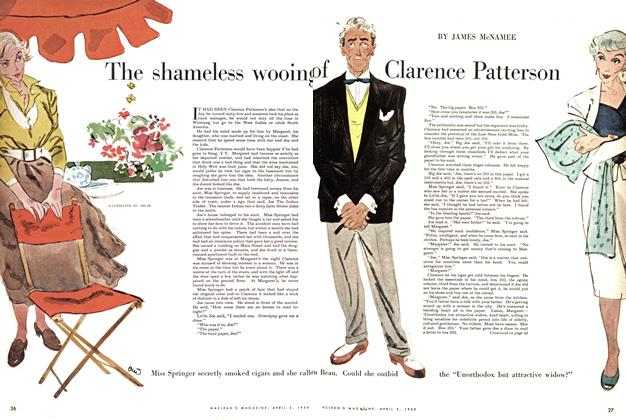Article Preview: The shameless wooing of Clarence Patterson, April 1955 | Maclean's