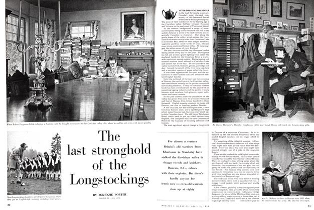 Article Preview: The last stronghold of the Longstockings, April 1955 | Maclean's