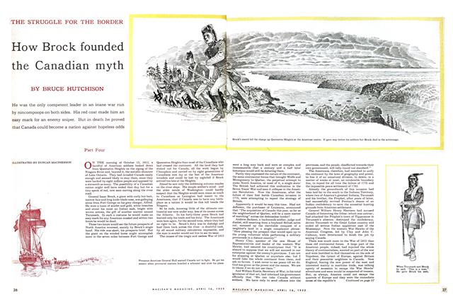 Article Preview: How Brock founded the Canadian myth, April 1955 | Maclean's