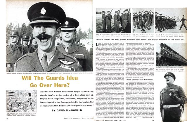 Article Preview: Will The Guards Idea Go Over Here?, April 1955 | Maclean's