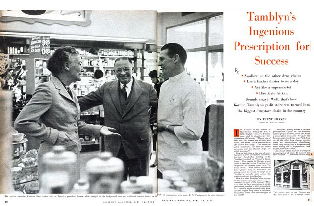 Article Preview: Tamblyn's Ingenious Prescription for Success, April 1955 | Maclean's