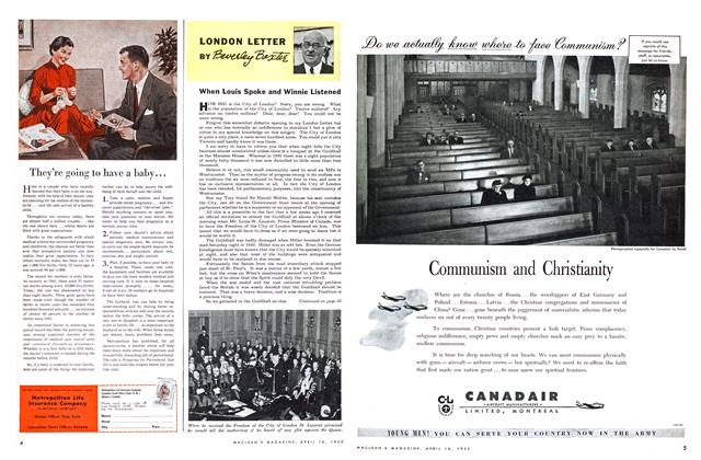Article Preview: When Louis Spoke and Winnie Listened, April 1955 | Maclean's