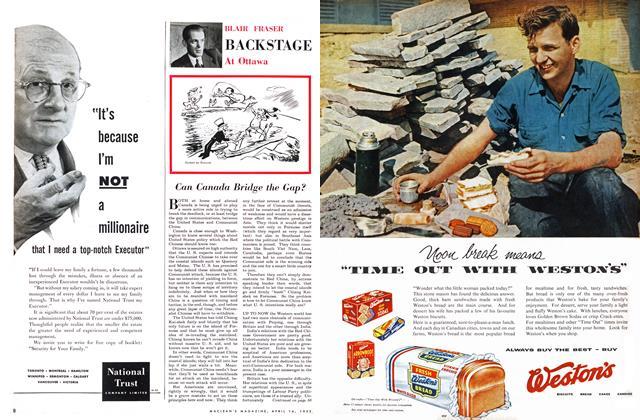 Article Preview: Can Canada Bridge the Gap?, April 1955 | Maclean's
