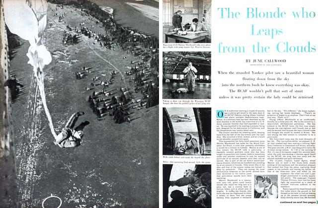 Article Preview: The Blonde who Leaps from the Clouds, April 1955 | Maclean's