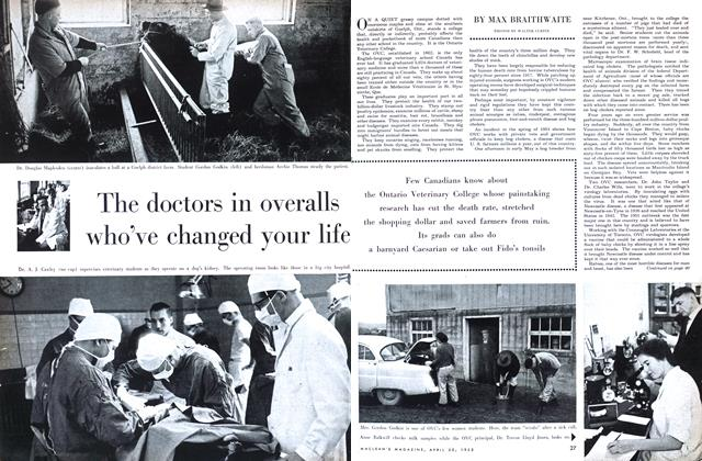 Article Preview: The doctors in overalls who've changed your life, April 1955 | Maclean's