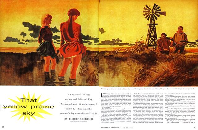 Article Preview: That yellow prairie sky, April 1955 | Maclean's
