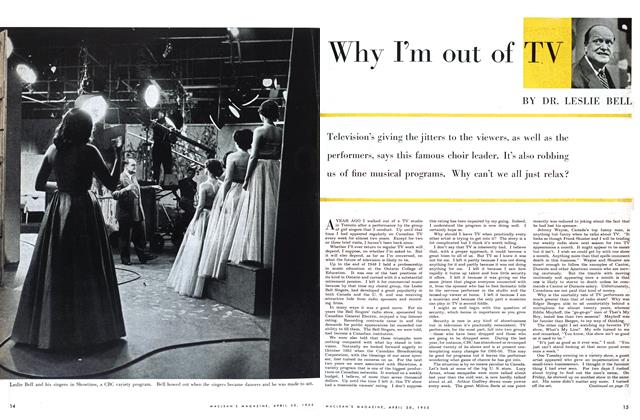 Article Preview: Why I'm out of TV, April 1955 | Maclean's