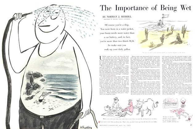 Article Preview: The Importance of Being Wet, May 1955 | Maclean's