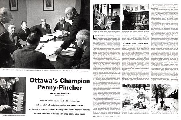 Article Preview: Ottawa's Champion Penny-Pincher, May 1955 | Maclean's