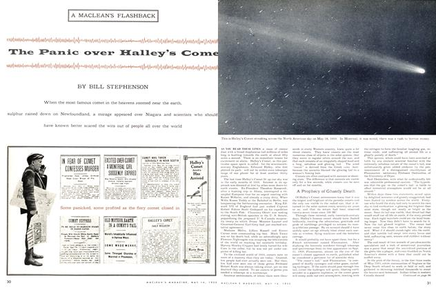 Article Preview: The Panic Over Halley's Comet, May 1955 | Maclean's
