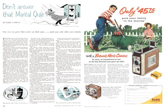 Article Preview: Don't answer that Marital Quiz, May 1955 | Maclean's