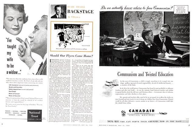 Article Preview: BACKSTAGE At Ottawa, May 1955 | Maclean's