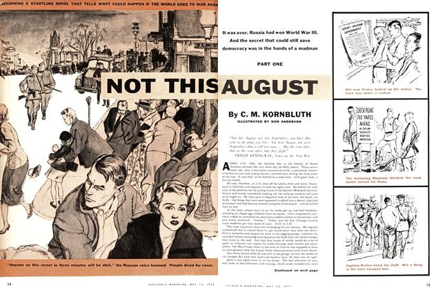 Article Preview: Not This August, May 1955 | Maclean's