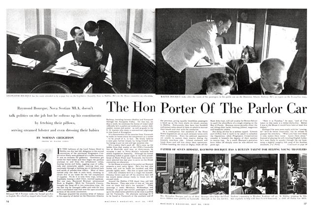 Article Preview: The Hon Porter Of The Parlor Car, May 1955 | Maclean's