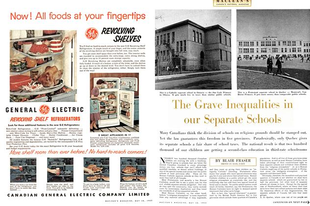 Article Preview: The Grave Inequalities in our Separate Schools, May 1955 | Maclean's