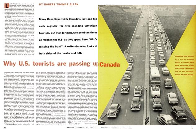 Article Preview: Why U.S. tourists are passing up Canana, May 1955 | Maclean's