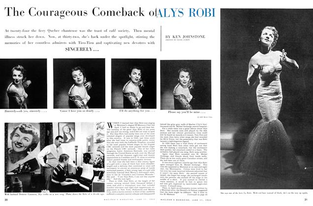 Article Preview: The Courageous Comeback of ALYS ROBI, June 1955 | Maclean's