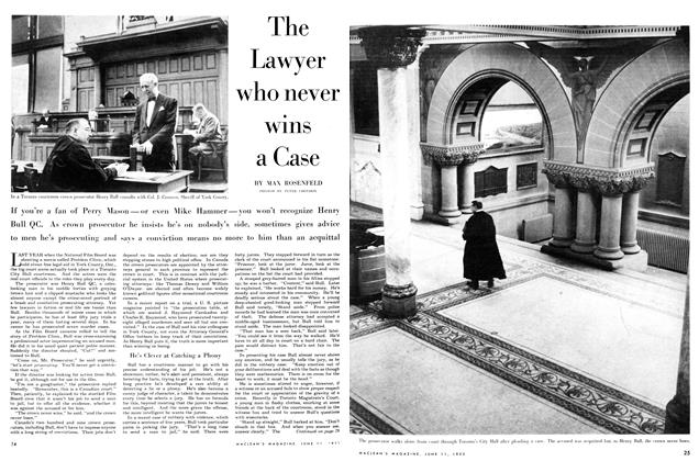 Article Preview: The Lawyer who never wins a Case, June 1955 | Maclean's