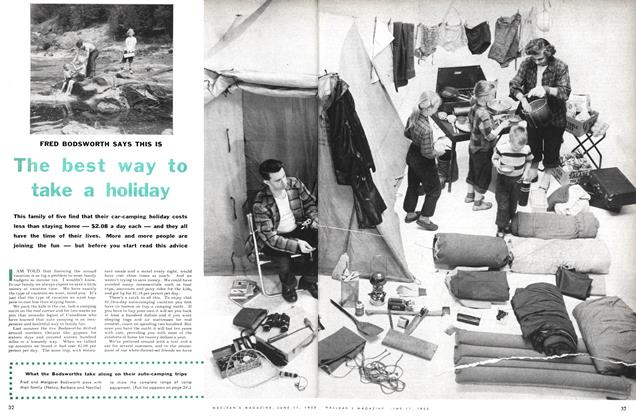 Article Preview: FRED BODSWORTH SAYS THIS IS The best way to take a holiday, June 1955 | Maclean's