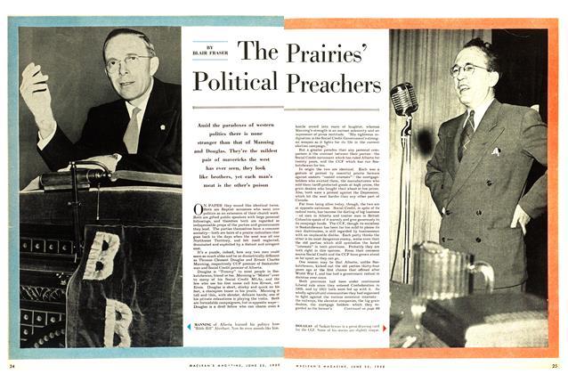 Article Preview: The Prairies' Political Preachers, June 1955   Maclean's