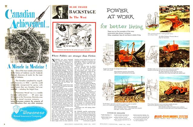 Article Preview: BACKSTAGE In The West, June 1955 | Maclean's