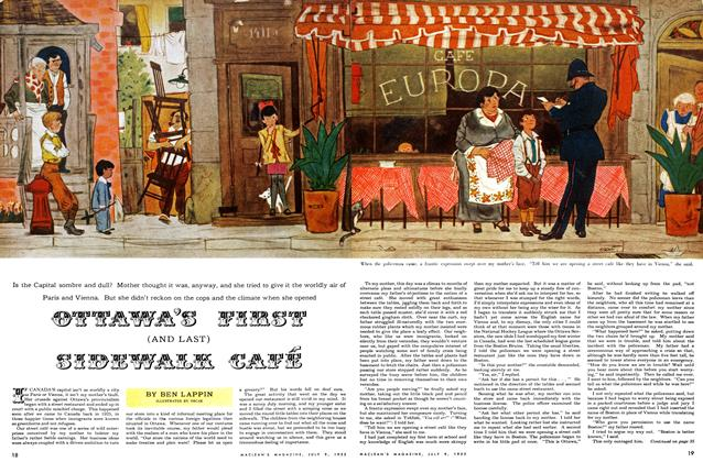 Article Preview: OTTAWA'S FIRST (AND LAST) SIDEWALK CAFE, July 1955 | Maclean's
